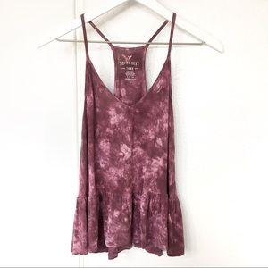 AEO | Soft & Sexy Tie Dye Peplum Tank